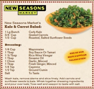 New Seasons Kale & Carrot Salad